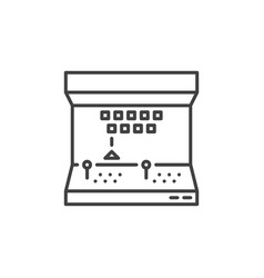 arcade machine concept icon in outline vector image