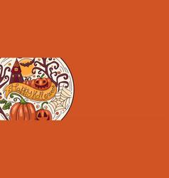 Art banner for happy halloweendesign template vector
