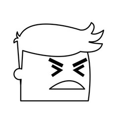 Avatar man angry success emotion face expression vector