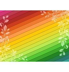 Background with floral decorations vector