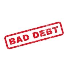 Bad debt text rubber stamp vector