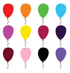 Balloon cartoon art set in color vector