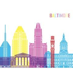 Baltimore V2 skyline pop vector