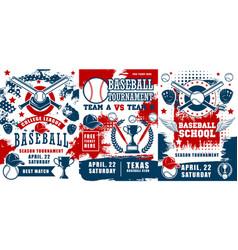 baseball sport school team tournament vector image