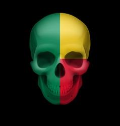 Beninois flag skull vector