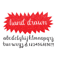 calligraphic brush pen font hand drawn vector image