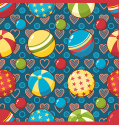 Child toy seamless pattern design element for vector