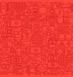 Cinema movie line seamless pattern vector