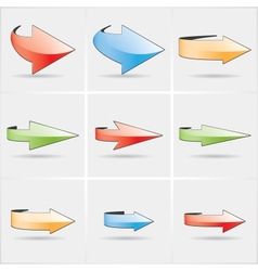 color arrows vector image