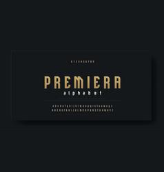 condensed luxury font alphabet typeface modern vector image