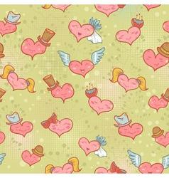 Cute Valentine seamless pattern vector image