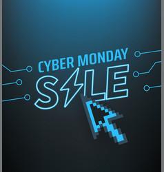 Cyber monday sale banner season offer concept vector