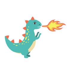 dinosaur making fire image vector image