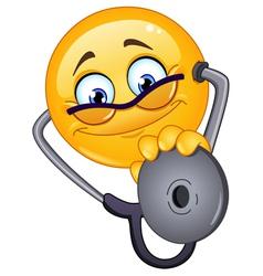 doctor emoticon vector image