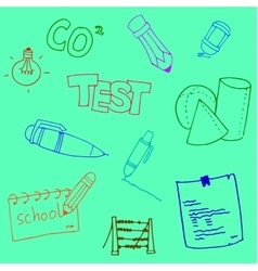 Doodle school collection stock hand draw vector