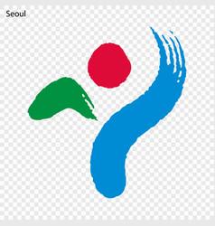 Emblem of seoul vector