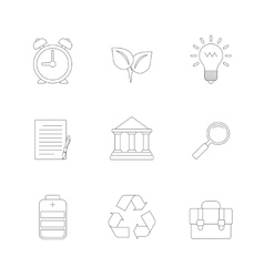 Flat Line Icons Set vector