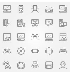 Game console icons set vector image