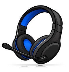 Gaming headphones isolated design vector