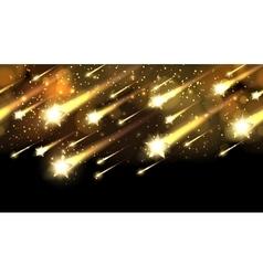 Gold star fall pattern holiday awards night vector