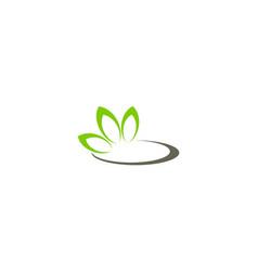 green ecology nature logo vector image