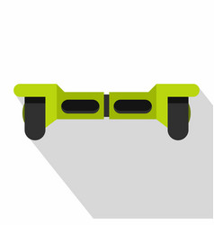 Green hoverboard icon flat style vector