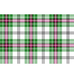 Green white pink tartan plaid seamless background vector