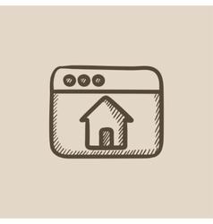 Homepage sketch icon vector