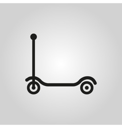 Kick scooter icon design Toy symbol web vector