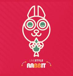 Line style rabbit vector