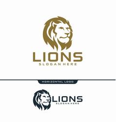 lion logo design vector image