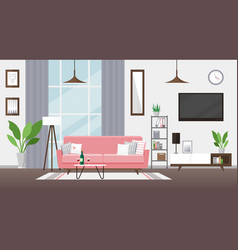 living room flat modern vector image