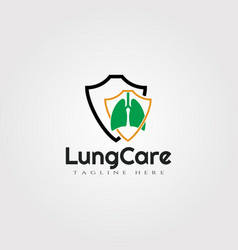 Lung care logo designhealthcare and medical icon vector