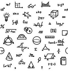 mathematics formula and geometry seamless pattern vector image