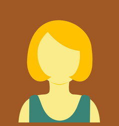 Mature women short hair people graphic background vector