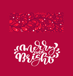 merry and bright scandinavian christmas vector image