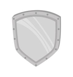 Metal shield medieval vector