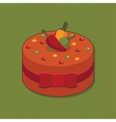 Mexican cake vector