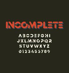 Minimal design alphabet template letters vector