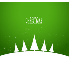 minimal style elegant merry christmas greeting vector image