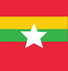 Myanmar flag for independence day and infographic vector