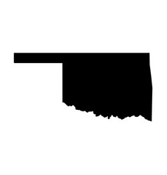 oklahoma state of usa - solid black silhouette vector image