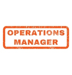 Operations Manager Rubber Stamp vector