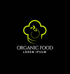 Organic food template design vector