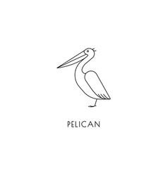 Pelican outline icon vector