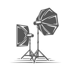 Photo studio element isolated on white background vector