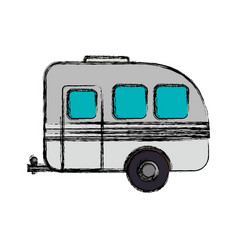 pick up trailer vector image