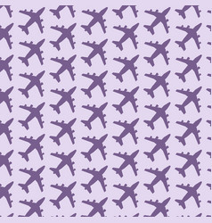 plane pattern background vector image