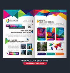 Professional brochure business vector