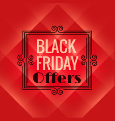 Red background for black friday event black vector
